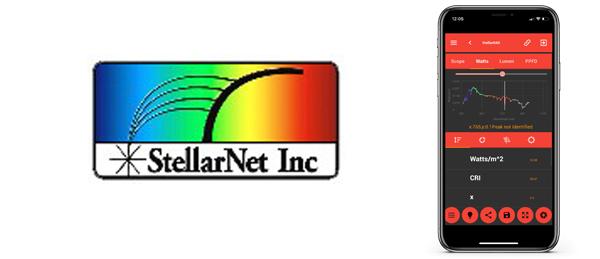 Nueva App de StellarNet:  StellarRAD para caracterizar fuentes de iluminación en tiempo real