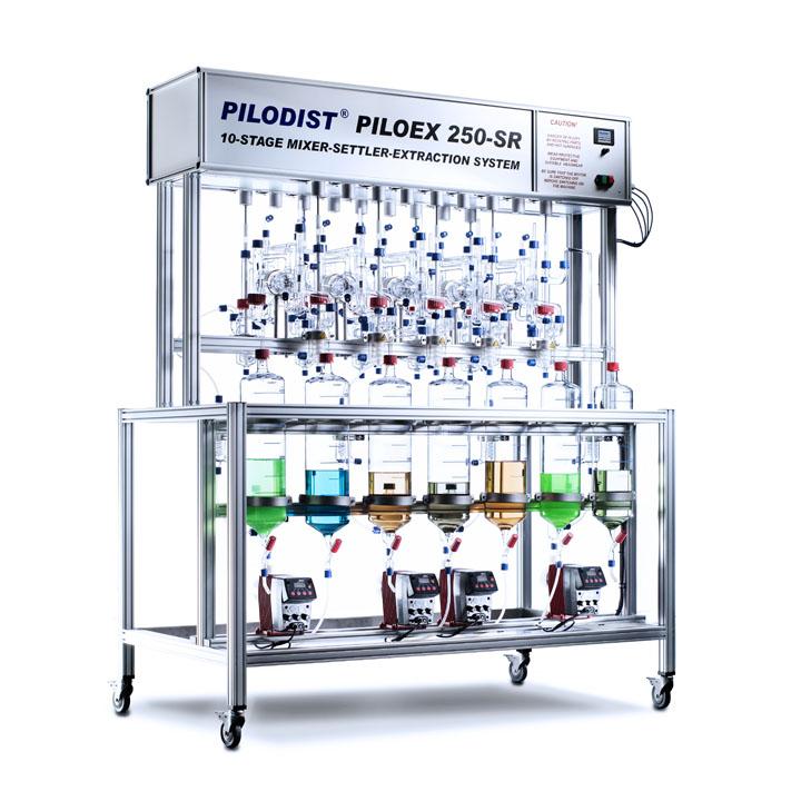 PILODIST SLS250SR - Mezclador-sedimentador para la extracción líquido-líquido